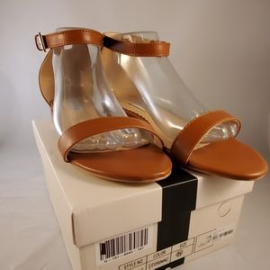 Brown flat sandals size 8.5